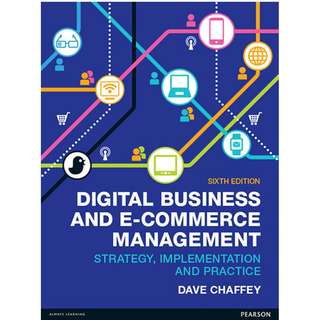 Digital Business and E Commerce Management 6th edition