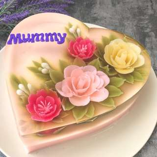 Mother's Day Flowers jelly cake