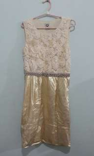 Dress import china gold
