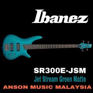 Ibanez SR300E-JSM 4-String Bass, Jet Stream Green Matte