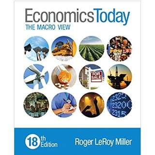 Economics today the macro view 18th edition