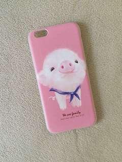 Iphone 6 - Silicone Case (Cute Piglet)