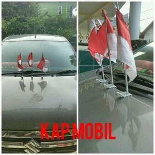 Tiang bendera asesoris mobil dan motor
