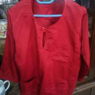 Baju Melayu Budak RED 1 yr