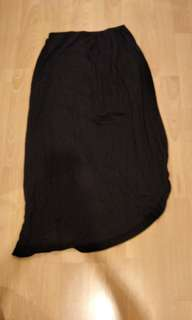 Casual black long skirt