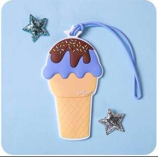Ice-Cream Sundae Luggage Tag Cabin Bag Holiday