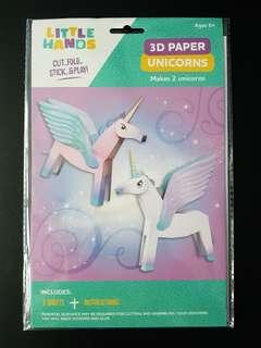 [INSTOCK] BN 3D Paper Craft (Unicorns)