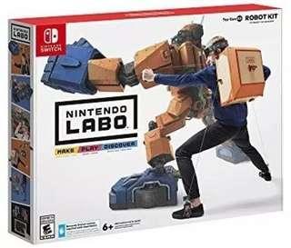 全新未拆 Labo 02 全新優惠 Switch Labo 機械人套裝換購 舊換新