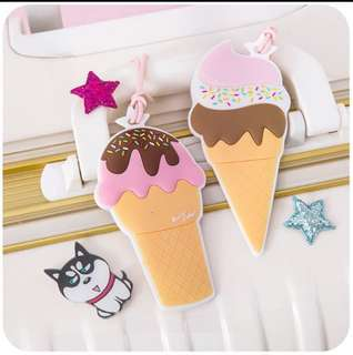 Ice-cream Sundae Luggage Tag Travel Holiday Cabin Bag