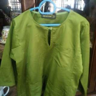 Baju Melayu kanak2 hijau 1 yr
