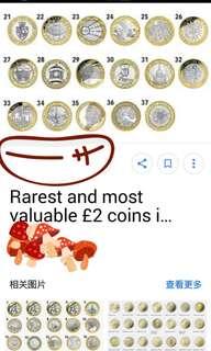 £2 coins (Pound)