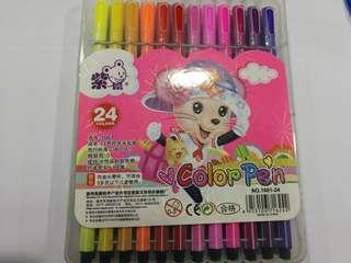 24 pcs Washable Colour Pen