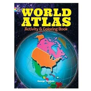 World Atlas Activity and Coloring Book (Dover Coloring Books for Children)
