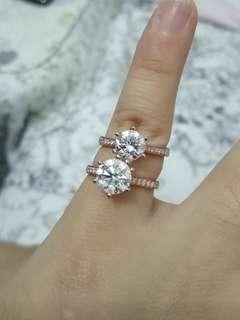Real diamond platinum ring