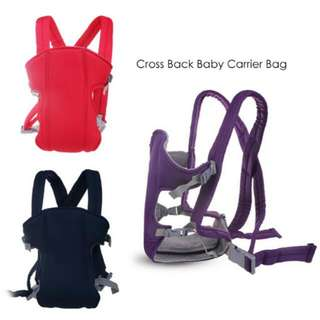 FREE POS Ready Stock Cross Back Baby Carrier Bag Front Breathable Infant Backpack