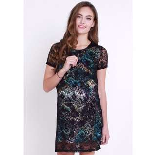 Lace Overlay Dress (S) - Jump Eat Cry