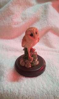 Vintage 1950's Ceramic / Resin / Stone Ware Owl Figurine