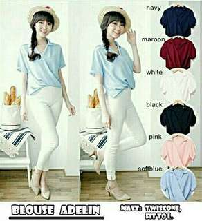 lck adelin top gil  bahan.twiscone fit to L