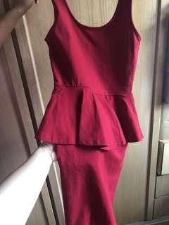 Forever 21 Red Peplum Dress