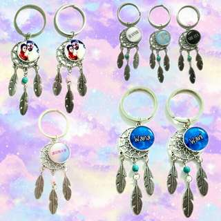 Custom dreamcatcher keychains