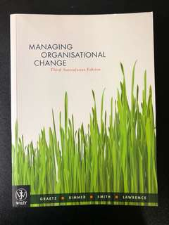 Managing Organisational Change Third Australasian Edition Wiley