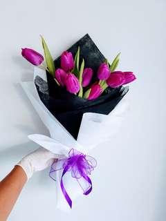 #061 Purple Tulip Bouquet