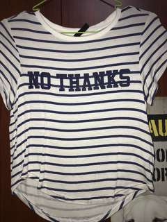 NO THANKS H&M shirt