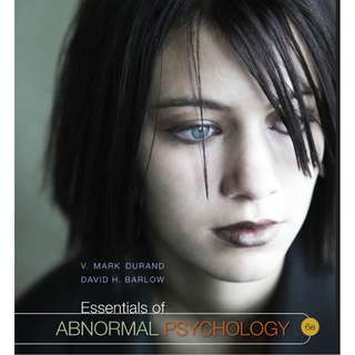Essentials of Abnormal Psychology 6th edition