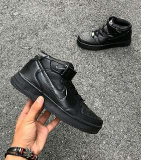 SIZE 38@39😆Nike Air Force 1 HICUT All Black