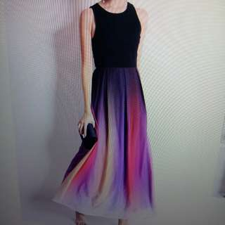 Purple ombre gradient dress