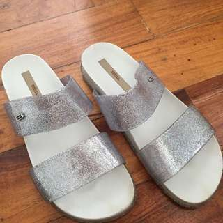 Melissa Cosmic Double Strap Glitter Sandals