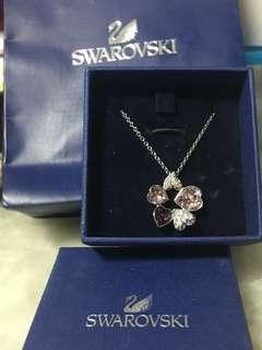 Swarovski Necklace 施華洛世奇心型粉紫水晶頸鏈