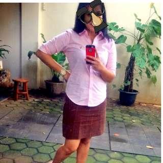 Authentic Atmosphere Brown Skirt/ rok kerja