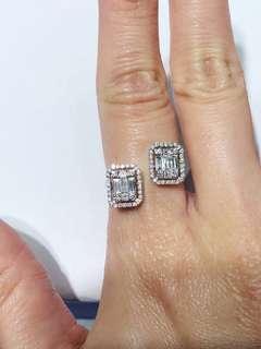 形格鑽石戒指共0.77ct 只售9800
