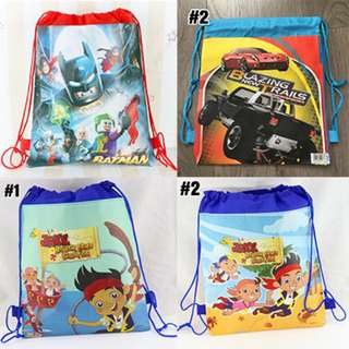 Cartoon Drawstring Bags - Goodie Bags