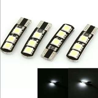 t10-6SMD-5050 帶解碼 canbus 汽機車LED示寬燈/2pcs
