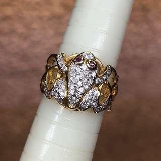 18K diamond ruby ring 鑽石紅寶石戒指