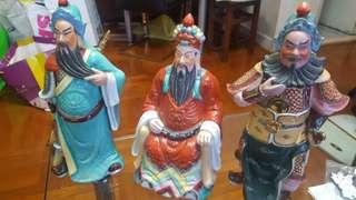 劉關張瓷像(超過30年)