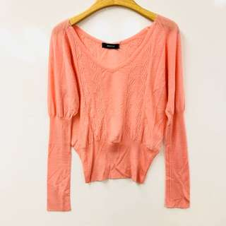 Zucca pink knit top size M