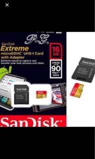 16GB SANDISK EXTREME Microsd 2