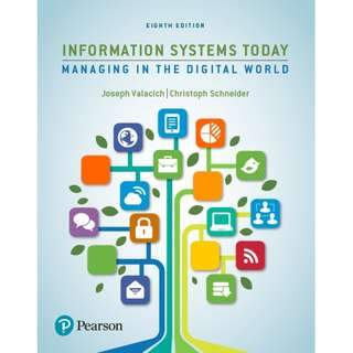 Information Systems Today Managing the Digital World 8th Edition