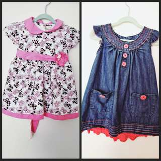 Baby Dresses Size 12mths