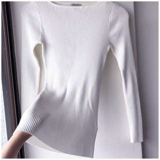 H&m hnm brand new knitted knit ribbed white jumper sweater top