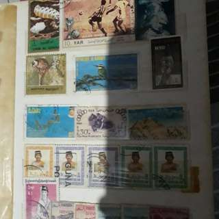 Old Stamps collection album