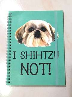 I Shihtzu Not! Typo A5 Green-Blue Notebook/Journal/Diary