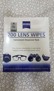 Zeiss Lens Cleaning Wipes (200pcs/box)