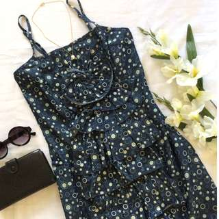 Denim Polka Dotted Dress