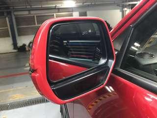 Vezel side mirror custom red border