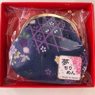 全新 日本製 和風 散紙包 小銀包 紫色