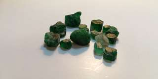 7 grams rough Emeralds from Swat Pakistan